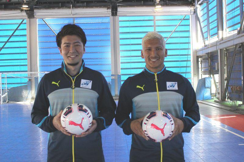 コーチを務める、フットサル日本代表 渡邉知晃、森岡薫