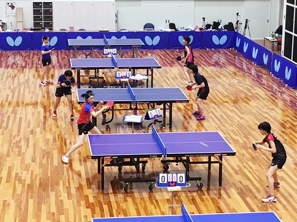 日本生命トップチームが利用する卓球専用の体育館
